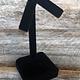 DER1722 = Black Value Velvet Earring Stand 2-1/4x2-1/4x3-1/2''H (Pkg of 2)