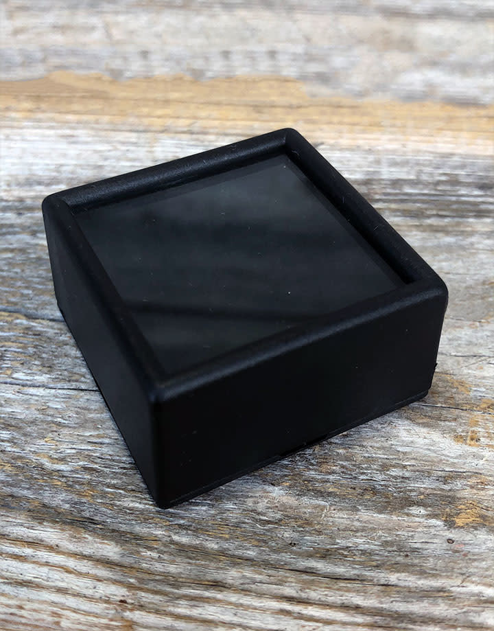 DST5005 = Gem Box with Glass Top & Foam Insert 1-1/2'' Square Black (Pkg of 50)