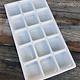 DIS6815 = Plastic Tray Insert 15 Spaces 1-3/8'' Deep - White (Pkg of 3)