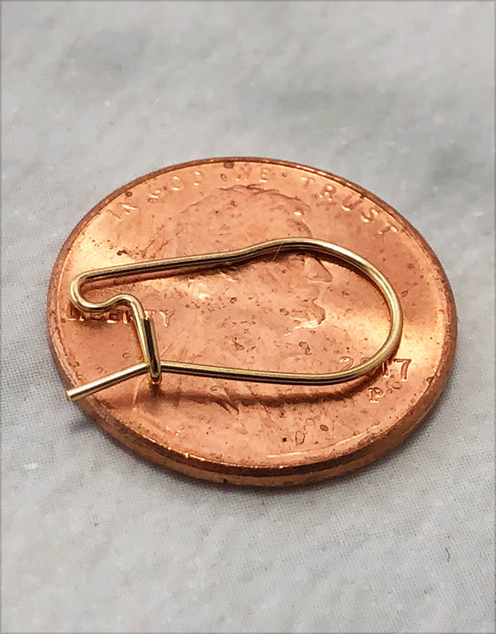 804F-02 = Gold Filled Kidney Earwire .022'' Wire (Pkg of 6)