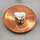 910S-40 = Pinch Bail Heart Shape Sterling Silver 5mm High (Each)