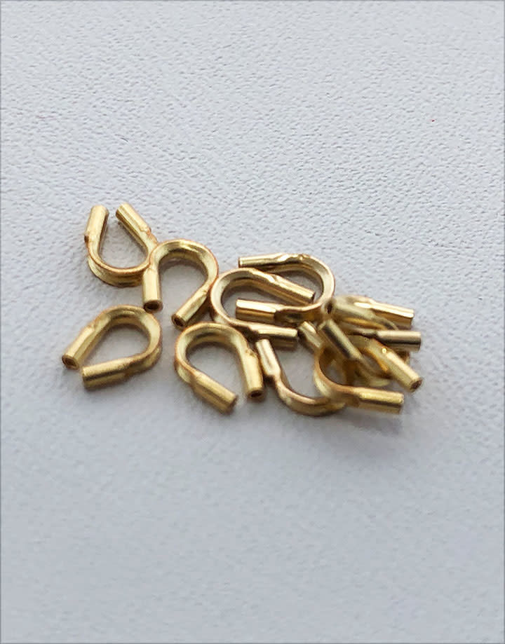 505F-01 = Gold Filled Wire/Thread Protector .021'' Hole (Pkg of 10)