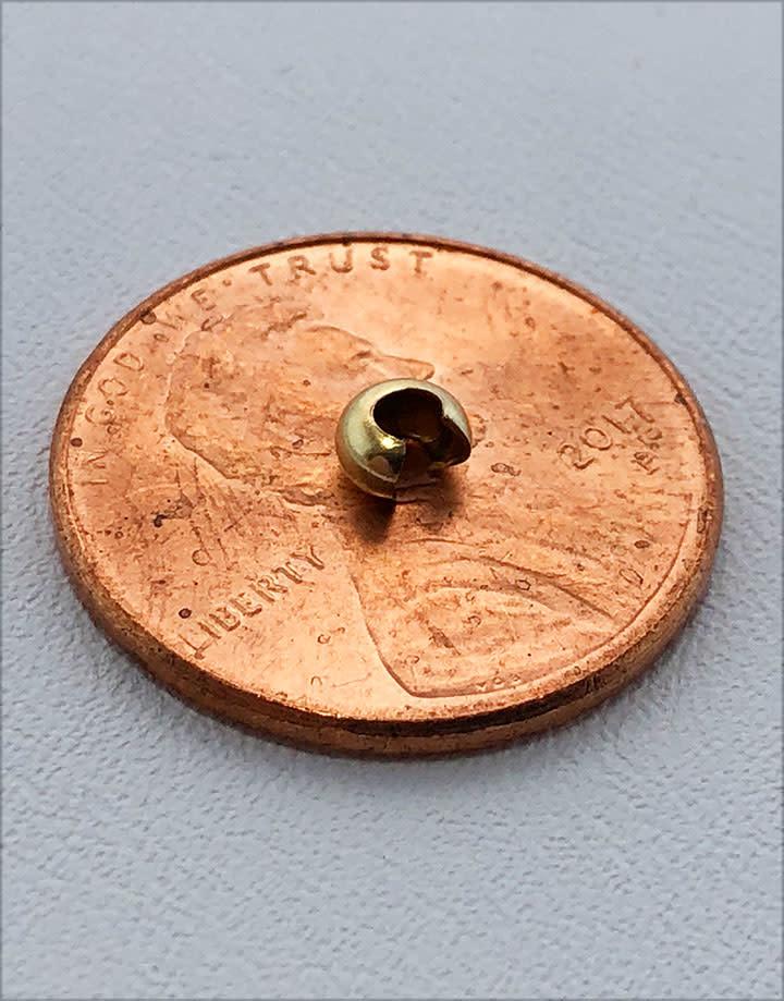 585F-20 = Gold Filled Crimp Cover 3mm (Pkg of 10)