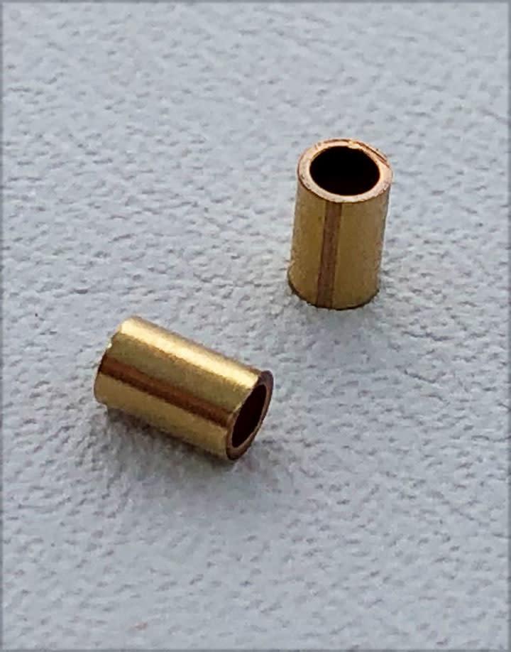585F-51 = Crimp Tube Gold Filled 3mm with 2nn Holw (Pkg of 50)