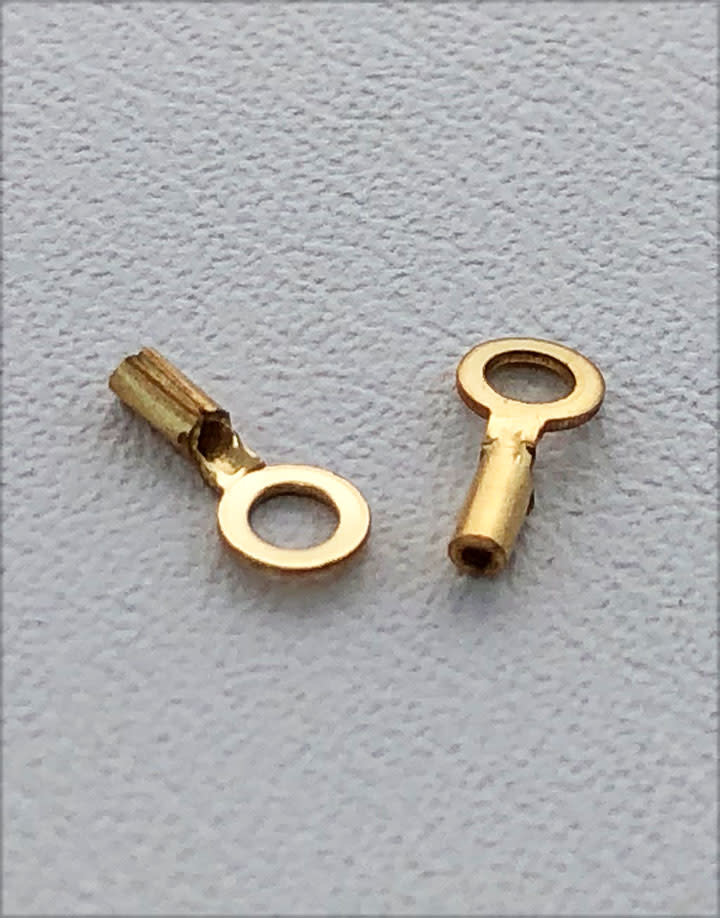 585F-70 = Gold Filled Crimp Tube with Ring.- 4.8mm ID Ring (Pkg of 10)