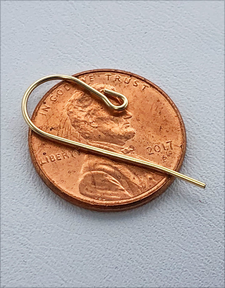803F-07 = Gold Filled Earwire with Loop End 0.027'' Wire (Pkg of 10)