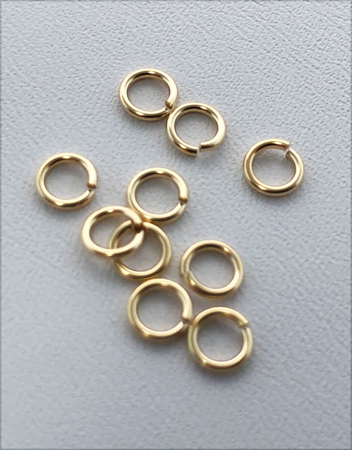 "900F-3.0 = Jump Ring 3mm ID x .025"" Wire Gold Filled (Pkg of 10)"
