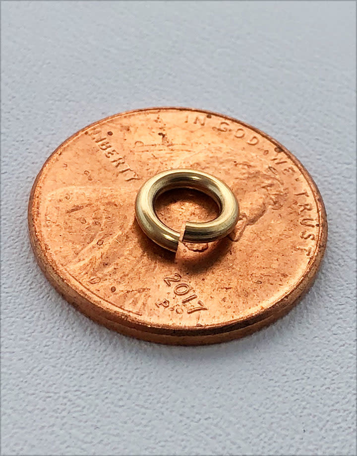 900F-4.0H = Jump Ring 4mm ID x .055'' Wire Gold Filled (Pkg of 5)