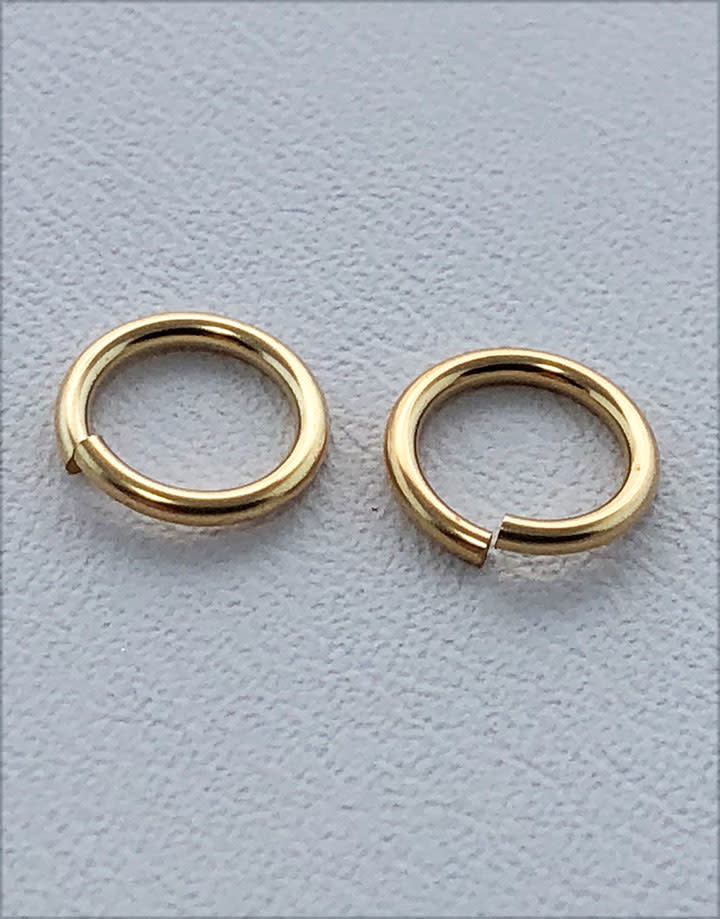 900F-5.0 = Jump Ring 5mm ID x .035'' Wire Gold Filled (Pkg of 10)