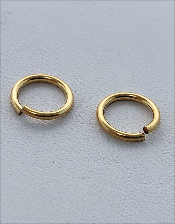 900F-6.0 = Jump Ring 6mm ID x .040'' Wire Gold Filled (Pkg of 10)