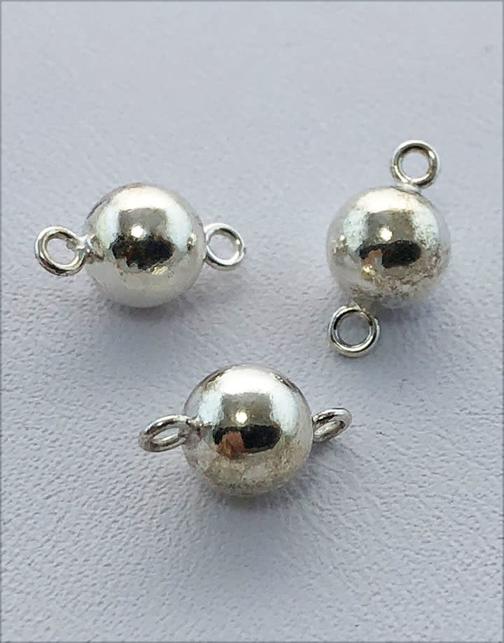 5150S-42 = Sterling Silver Connector 6mm Bead (Pkg of 3)
