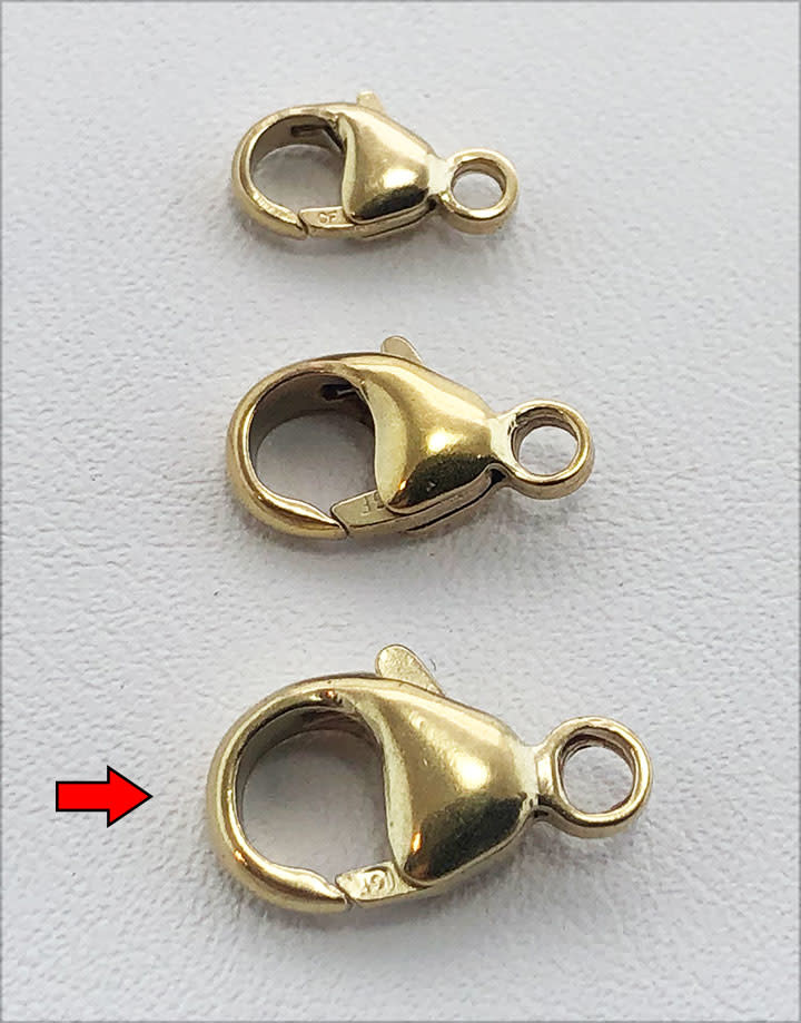 912F-43 = Trigger Clasp 7 x 13mm Gold Filled (EACH)