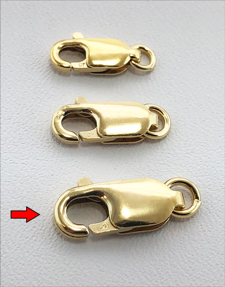 912F-05 = Lobster Clasp with Jump Ring 4.6 x 13.5mm Gold Filled (EACH)