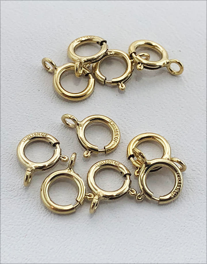 911F-04 = Gold Filled Spring Ring 6.mm Standard (Pkg of 10)