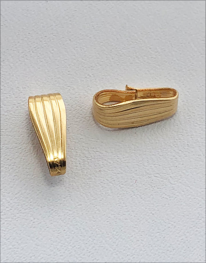 910F-14 = Gold Filled Clip On Bail - 3.1mm Opening (Each)