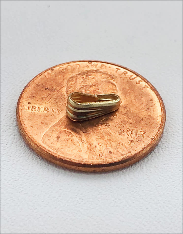 910F-12 = Gold Filled Clip On Bail - 2.5mm Opening (Pkg of 10)