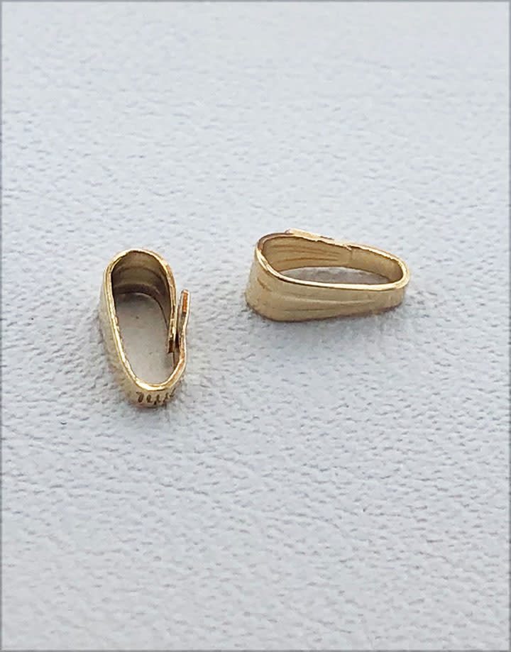 910F-11 = Gold Filled Clip On Bail - 1.7mm Opening (Pkg of 10)