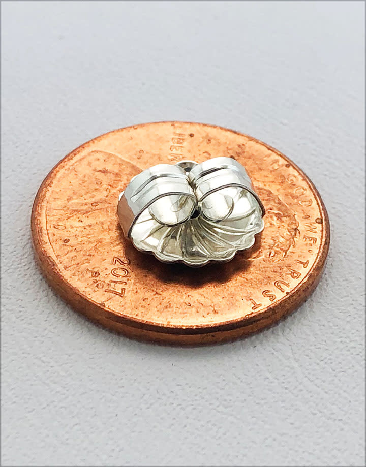 909S-09 = Earring Back Jumbo Sterling Silver 10mm (Each)