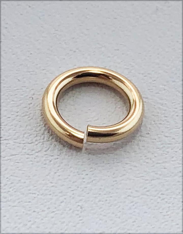 906F-8 = Jumplocks 8.0mm x 16ga  Gold-filled (Pkg of 5)