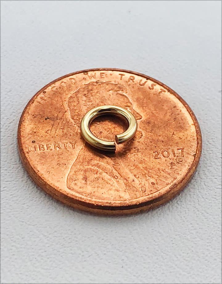 906F-6 = Jumplocks 6.0mm x 18ga  Gold-filled (Pkg of 5)