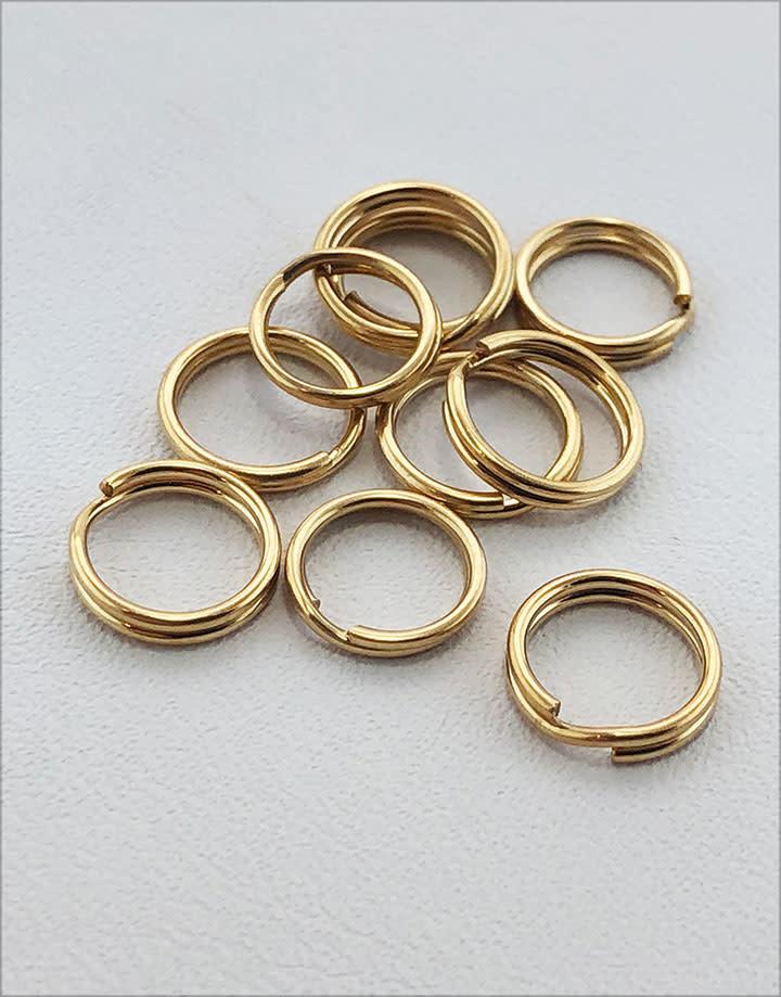 901F-04 = Split Ring 8.0mm Round Gold Filled (Pkg of 10)