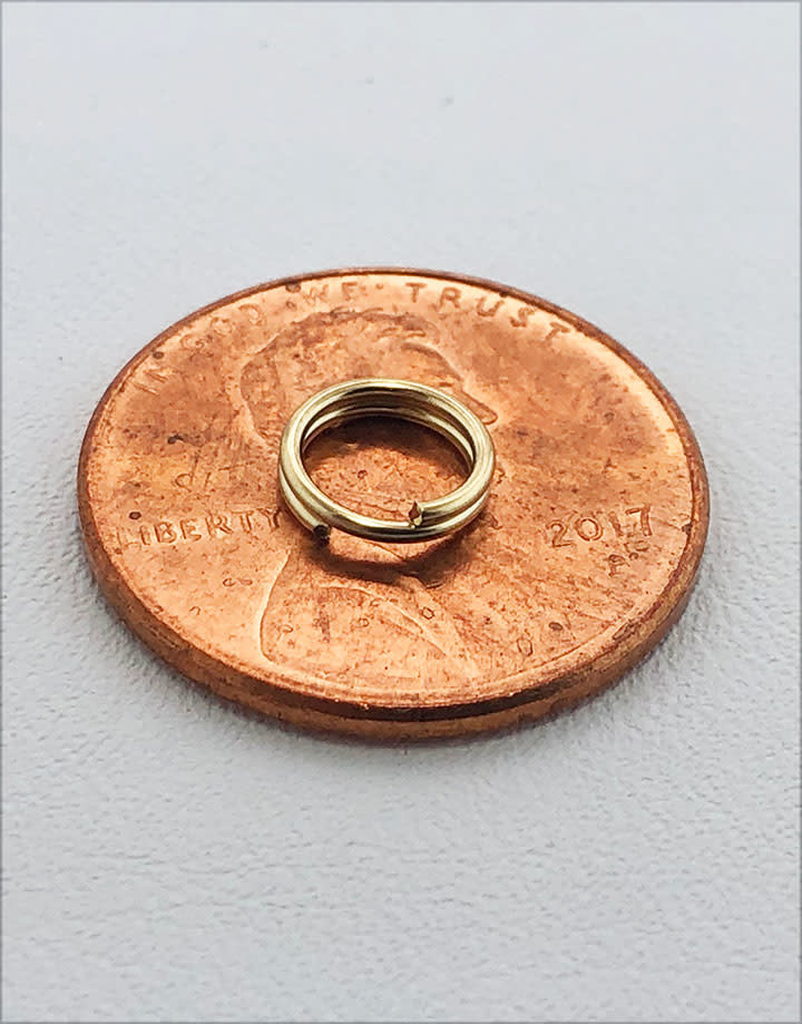 901F-03 = Split Ring 6.5mm Round Gold Filled (Pkg of 10)