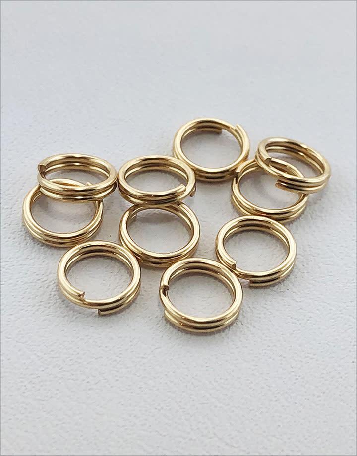 901F-01 = Split Ring 5.0mm Round Gold Filled (Pkg of 10)