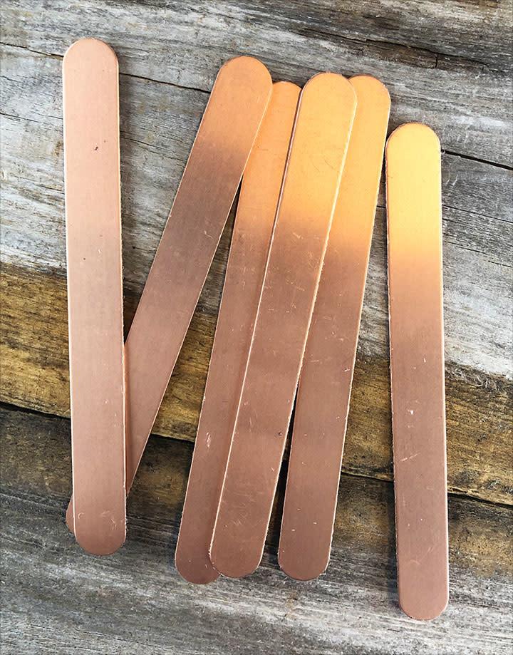 "CS16R-6x5/8 = Bracelet Blank Copper 16ga, 6"" x 5/8"" (Pkg of 6)"