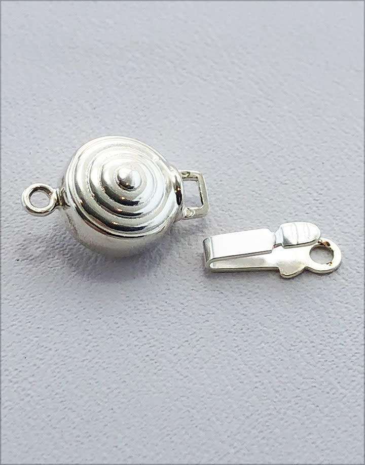 915S-16 = STERLING SILVER - CLASP ROUND 8MM-SINGLE (EACH)