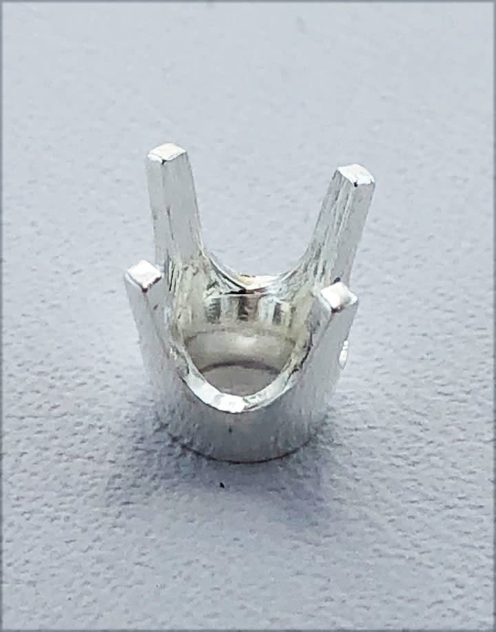 120S-6.5 = Sterling 4 Prong Round Head 6.5mm (Pkg of 2)