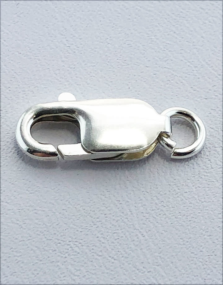 912S-06 = Lobster Clasp with Ring Sterling Silver 6.2x16mm (EACH)