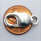912S-08 = Lobster Clasp with Ring Sterling Silver 9.3x18mm (EACH)