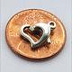 912S-50 = STERLING SILVER - CLASP HEART SHAPE-8x9.5MM (EACH)