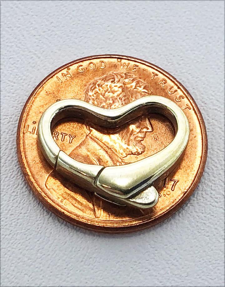 912S-51 = STERLING SILVER - CLASP HEART SHAPE-10x15MM (EACH)