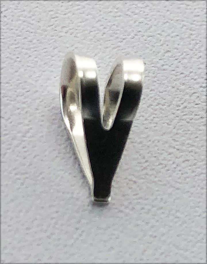 910S-27 = Sterling Silver Split Top Bail (Pkg of 10)