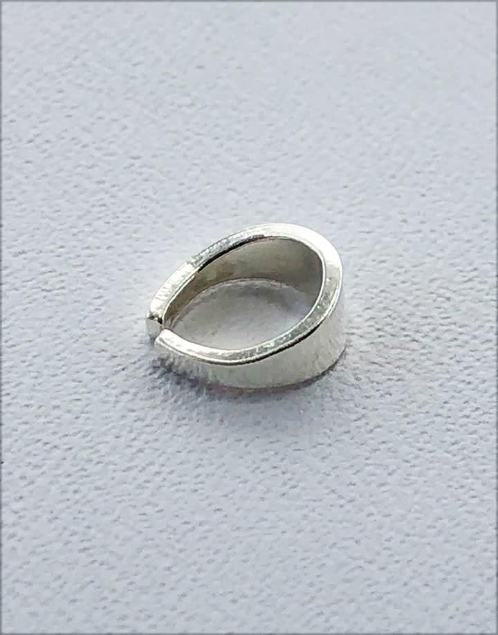 910S-21 = Sterling Silver Split Bail 6.1 x 2.9mm (Pkg of 10)