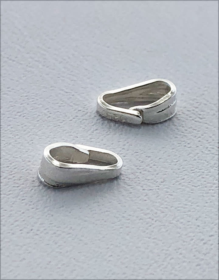 910S-12 = Sterling Silver Clip On Bail 2.7mm Opening 6.5mm Height (Pkg of 10)