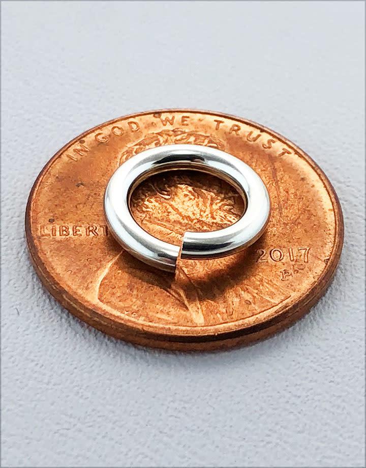 906S-10.0 = Jump Lock Sterling Silver 10.0mm OD x 14ga (Pkg of 5)