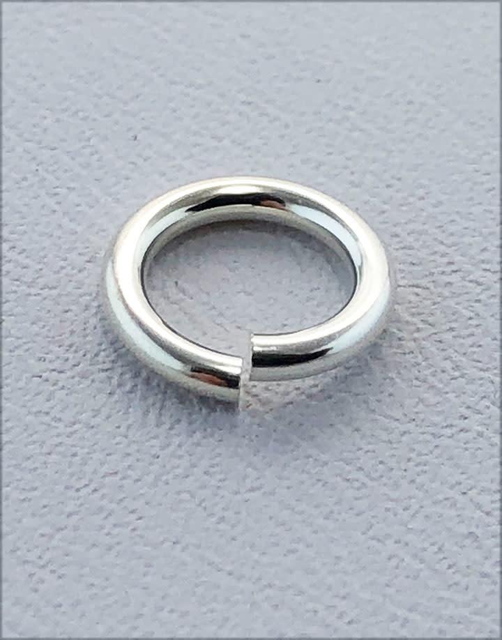 906S-8.0 = Jump Lock Sterling Silver 8.0mm OD x 16ga  (Pkg of 5)