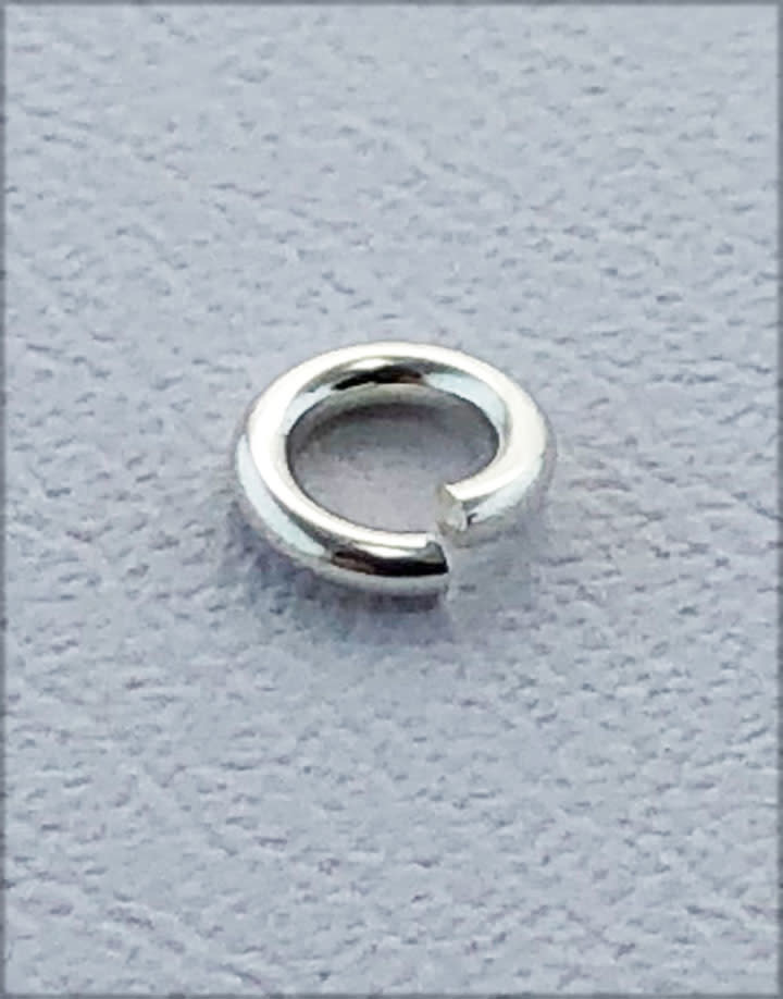 906S-4.0 = Jump Lock Sterling Silver 4.0mm OD x 20ga  (Pkg of 50)