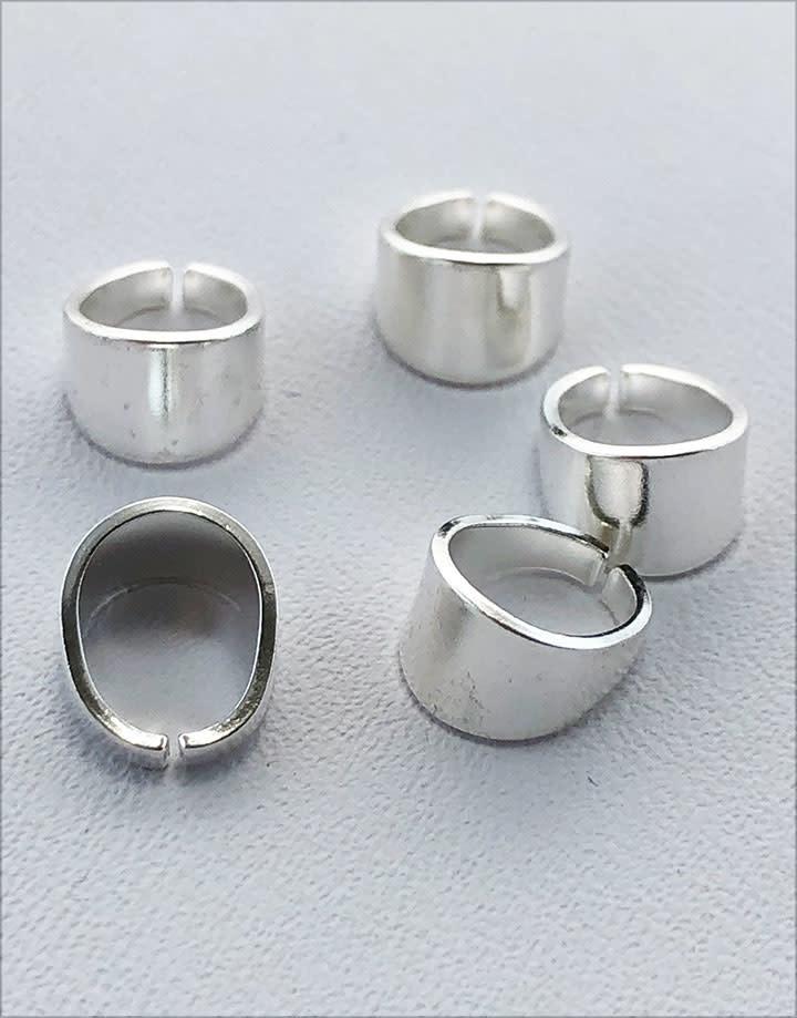 910S-23 = Sterling Silver Split Bail 7.6 x 4.9mm High 5.1mm ID (Pkg of 5)