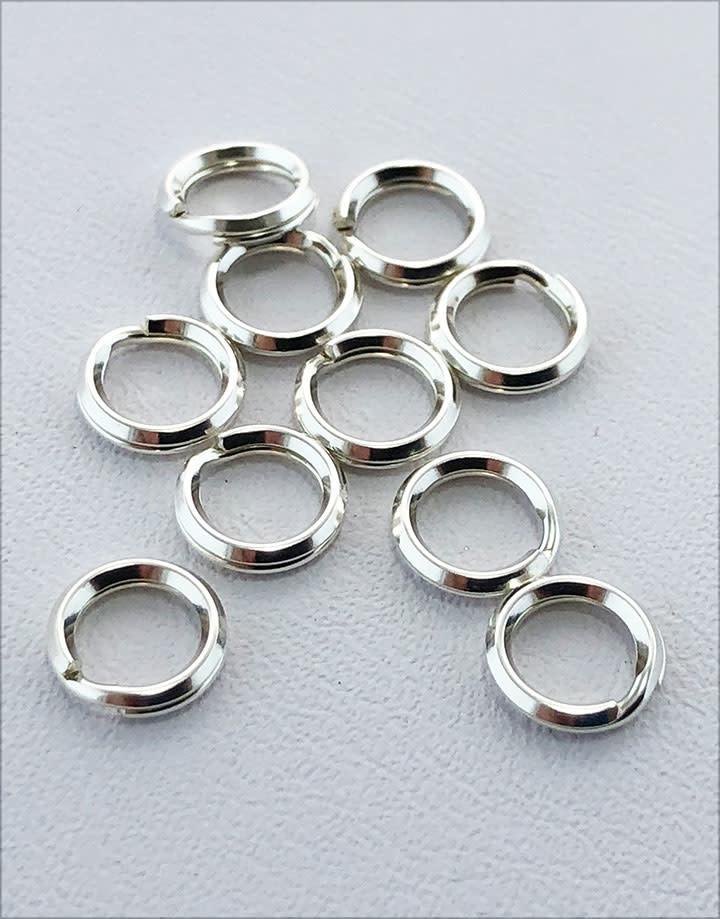 901S-03 = Round Split Ring Sterling Silver 6.2mm (Pkg of 10)