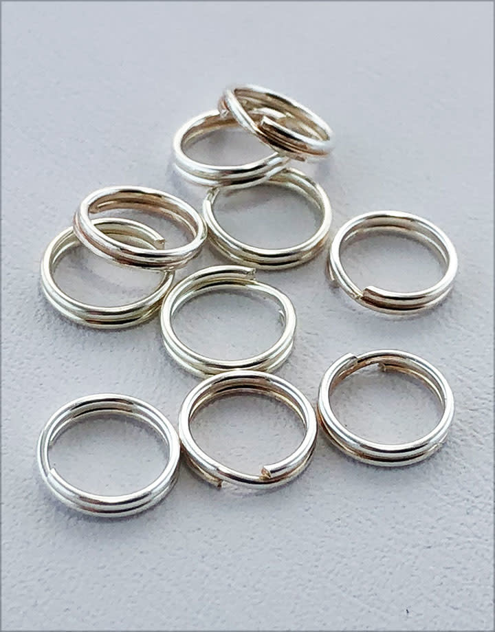 901S-04 = Round Split Ring Sterling Silver 7.2mm (Pkg of 10)