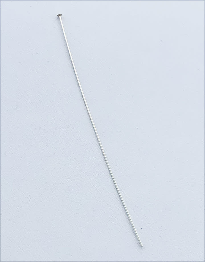 807S-08 = Head Pin Sterling Silver 3''x.020'' (24ga/.5mm) (Pkg of 10)