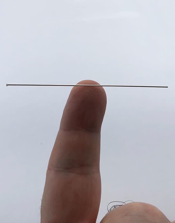 807S-03 = Head Pin Sterling Silver 3'' x .025'' (22ga/.65mm) (Pkg of 10)