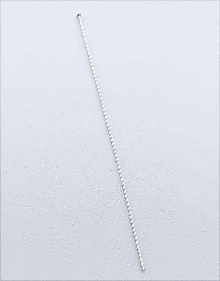 807S-03 = Head Pin Sterling Silver 3'' x .025'' (22ga/.65mm) (Pkg of 10)