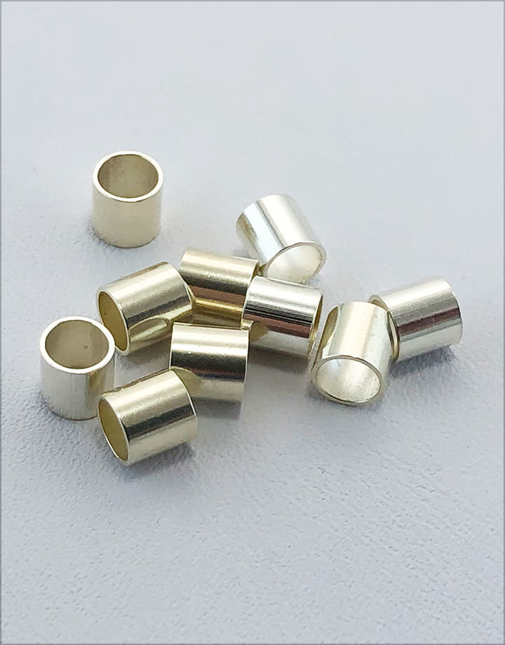 583S-60 = Cut Tube Sterling Silver 4.8mm (4.2mm ID) (Pkg of 10)