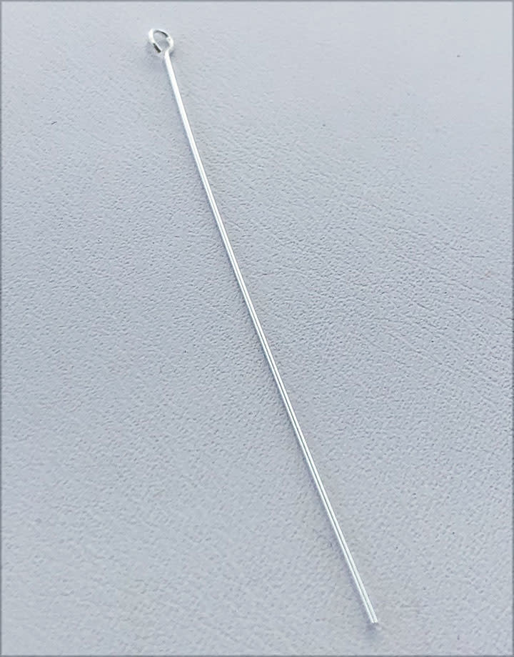 808S-06 = Sterling Silver Eye Pin 2'' x .020'' (24ga/.5mm) Wire (Pkg of 10)