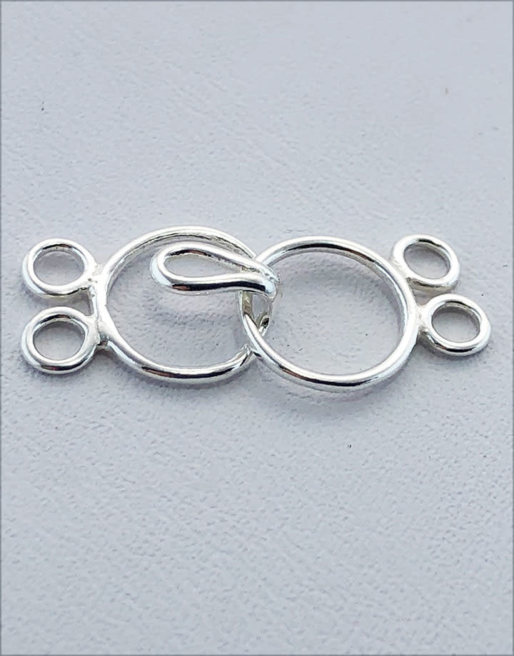 916S-02 = STERLING SILVER CLASP CIRCLE with 2 RING 9mm (EACH)
