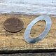 MSS1103 = Sterling Washer Oval 20 x 40.4mm (24ga)